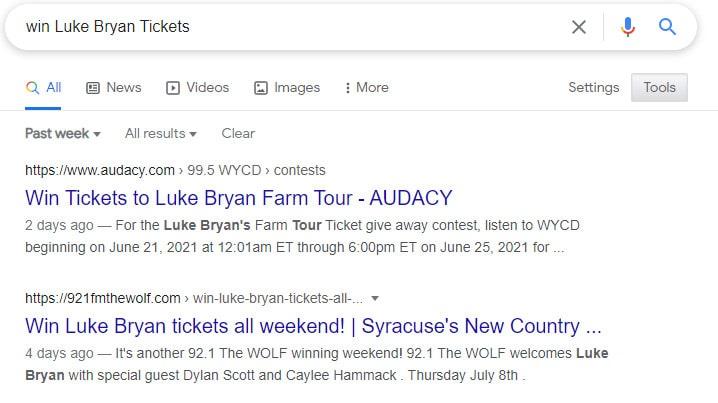 Howto win Luke Bryan Tickets